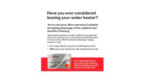 water heater promotional offer